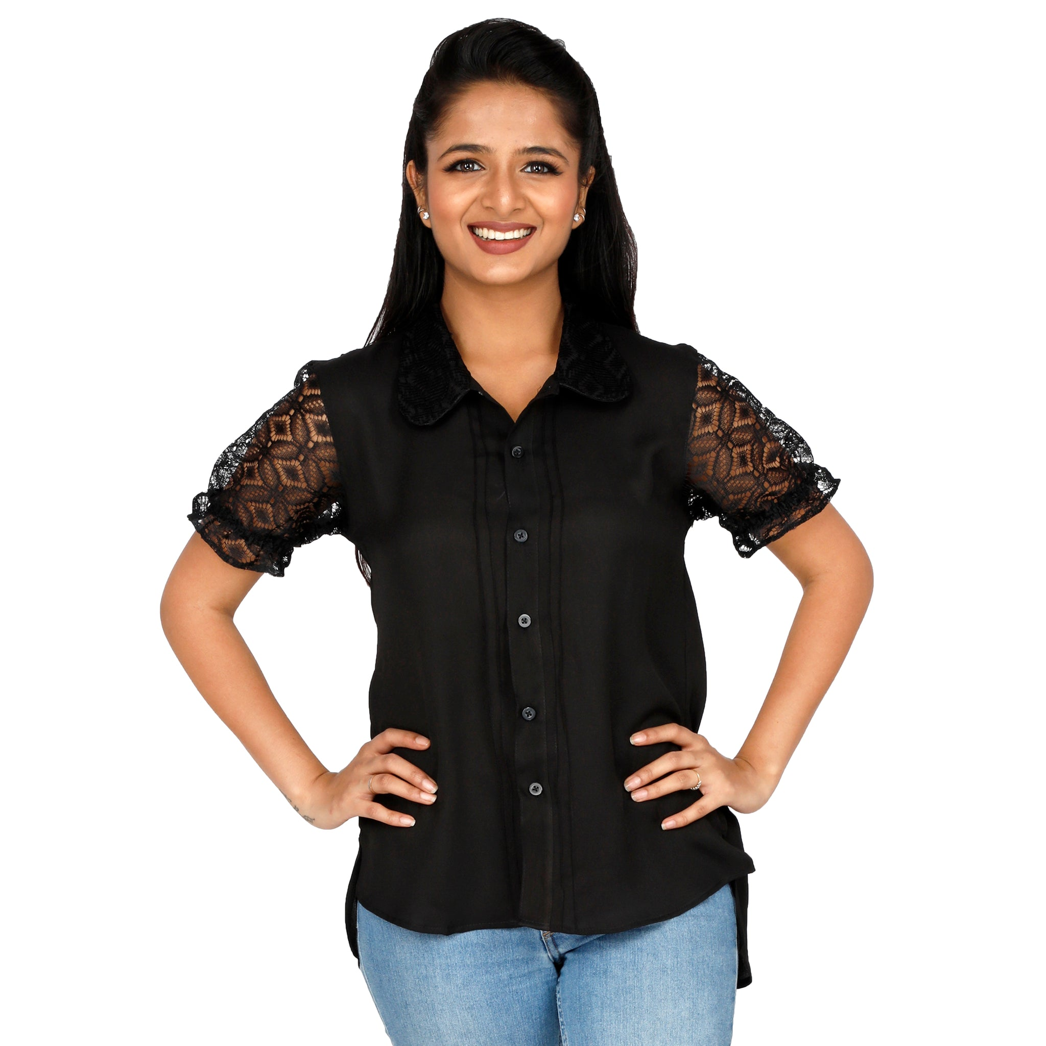 women's-dressy-black-top-with-sheer-sleeves-online