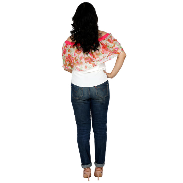 Flowery Summery Off-Shoulder Top