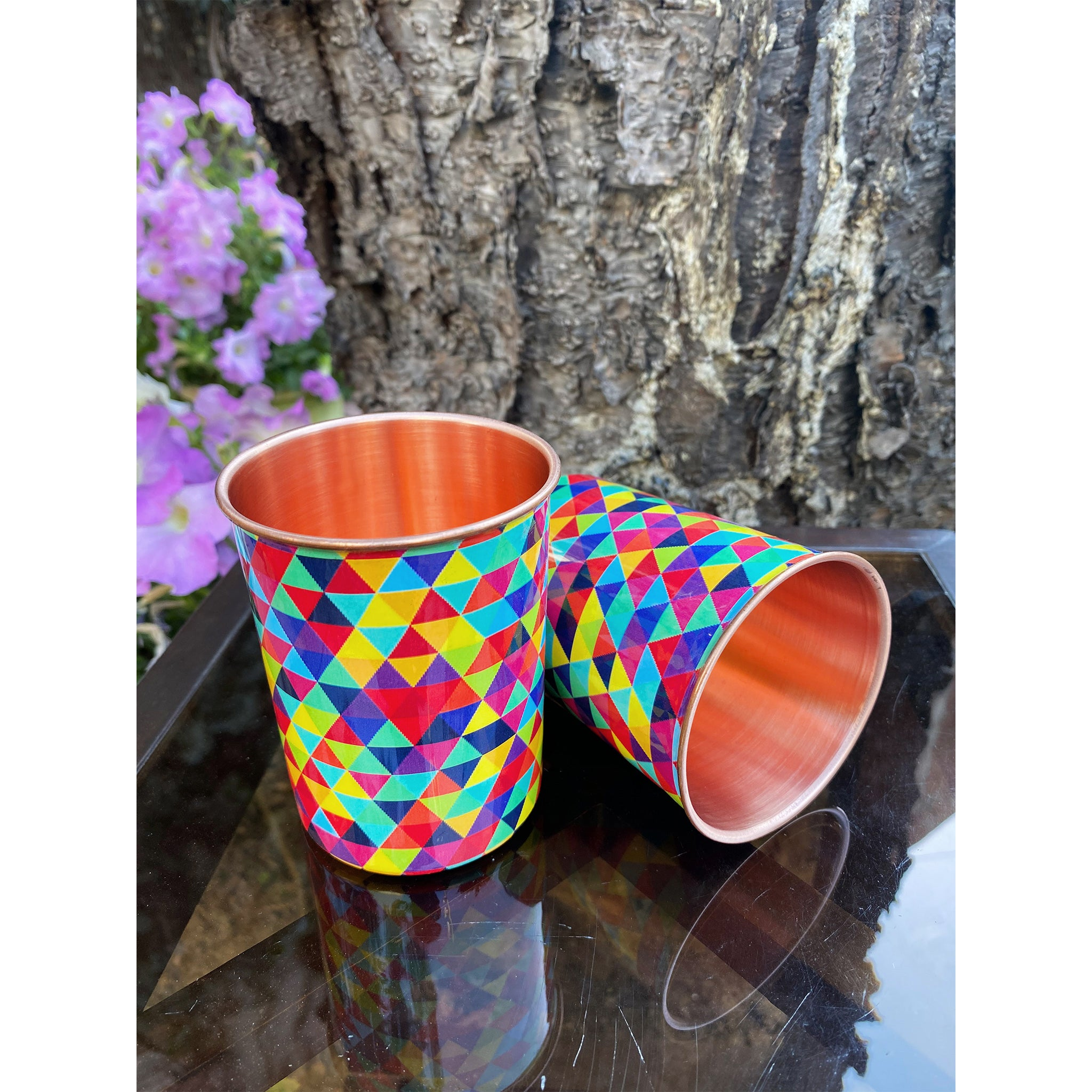 Little Kites Pure Copper Glasses (Set Of 2).