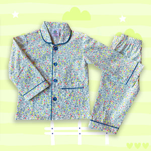 Happy Spring Cotton Girls Night Suit