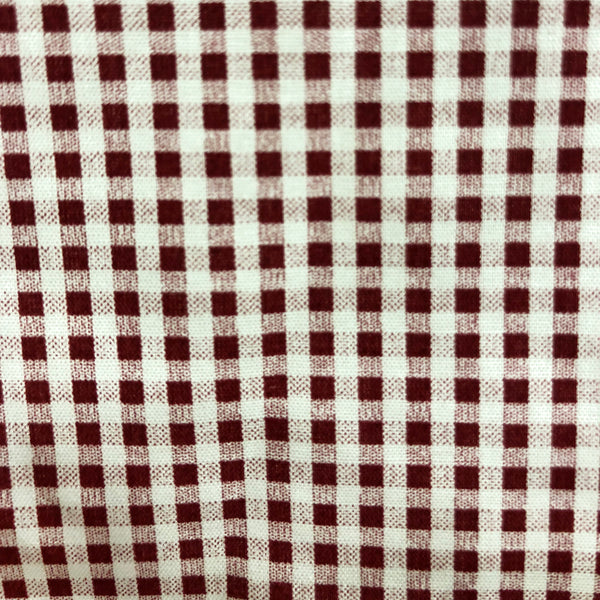 Cotton Gingham Checkered Red Print