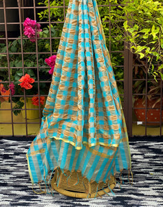 firozi-blue-dupatta-with-zari-work-online