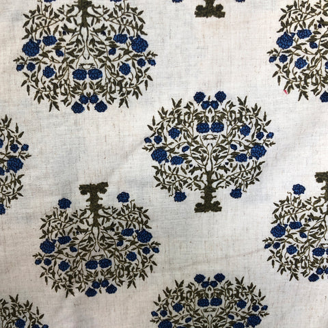 Traditional Tree Print Khadi Fabric