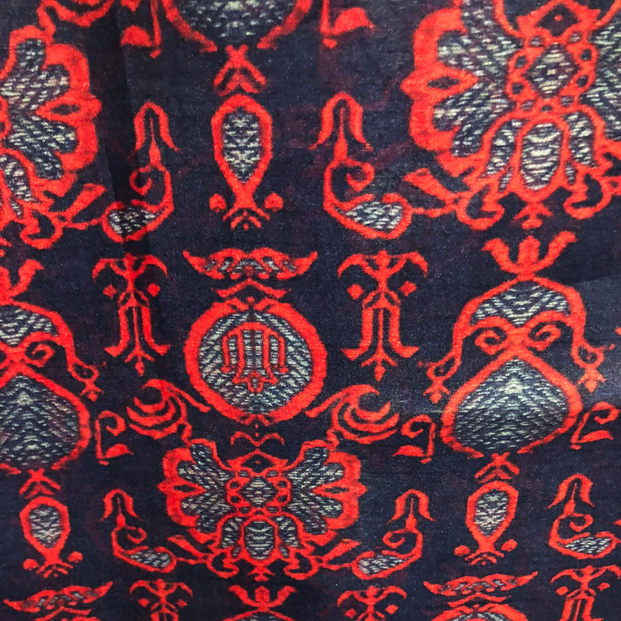 red-black-printed-tussar-silk-fabric-online