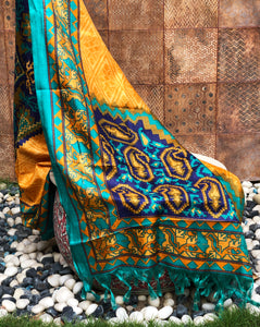 yellow silk dupatta at cheap price