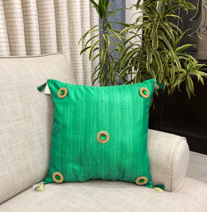 green-colour-cushion-covers-silk-fabric