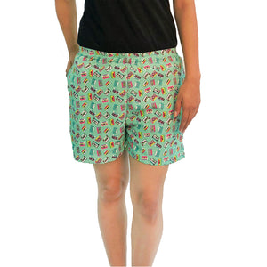 women's-cassette-player-print-shorts-with-pockets-online