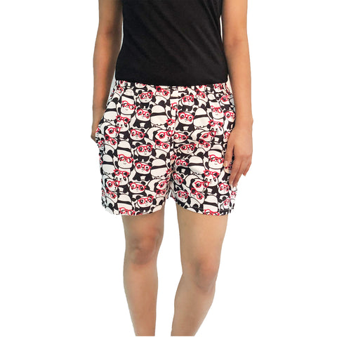 Panda Women Shorts With Pockets