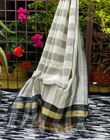 grey-and-white-dupatta-with-zari-border-online