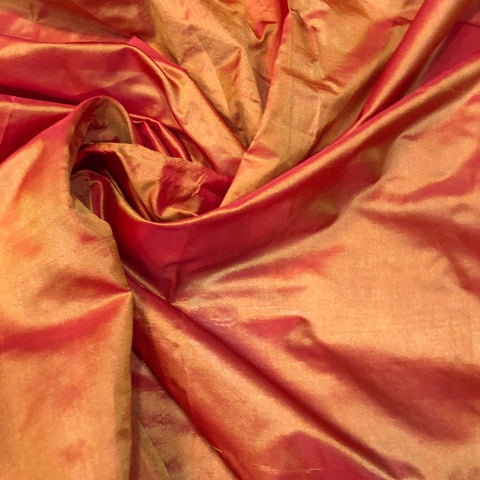Orange Chennai Silk Fabric