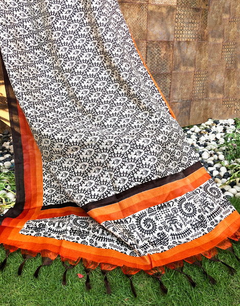 Traditional Warli Art Dupatta