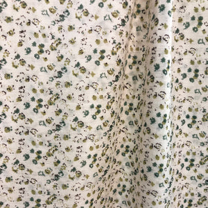 Linen Floral Fabric