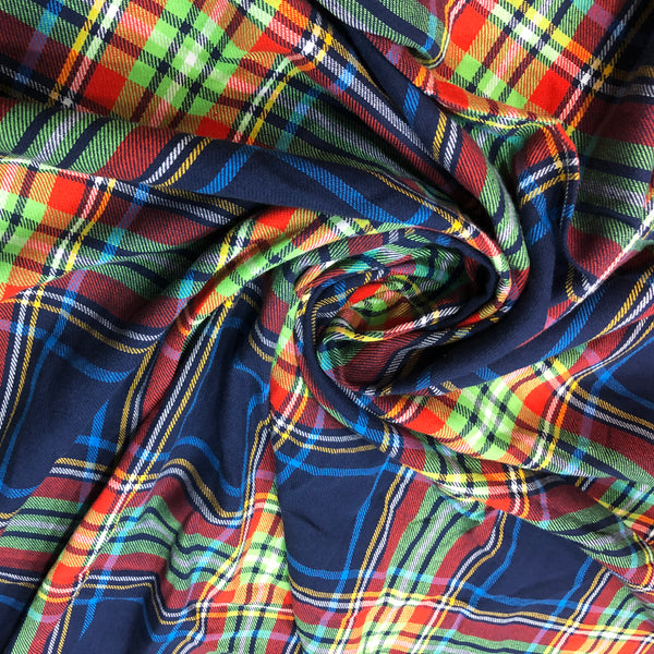 checkered thick cotton fabric online