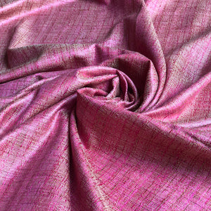 Khadi Silk Pretty Pink Fabric
