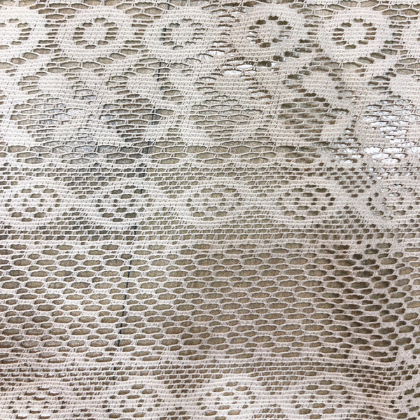 lacy net fabric piece in white colour