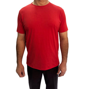 Solid Red Round Neck T-shirt