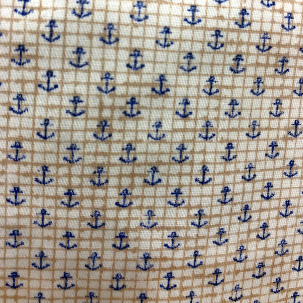 Summer Cotton Anchor Print