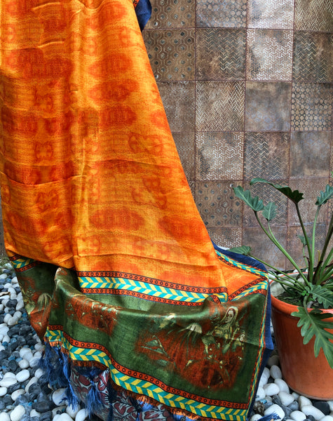 orange-coloured-silk-dupatta-online-india