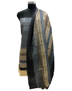 Slate Grey Pure Silk Fabric Suit Length