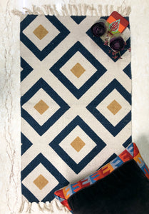 blue and white small rug for homes online