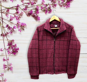 Knitted Warm Checkered Jacket