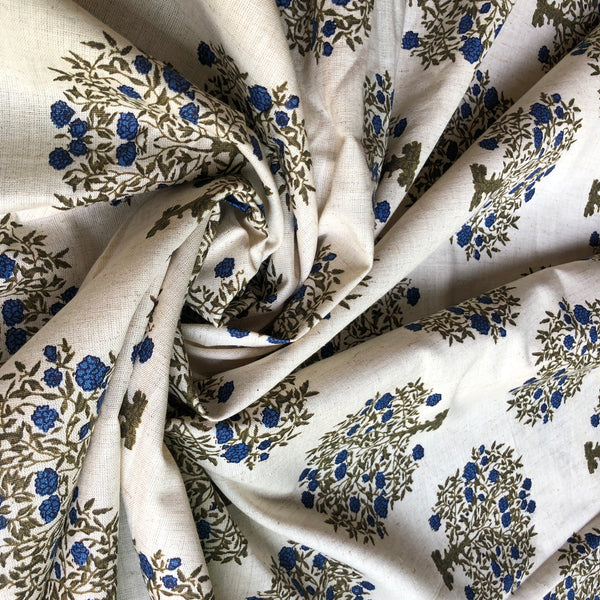 Traditional Tree Print Handloom Cotton Fabric
