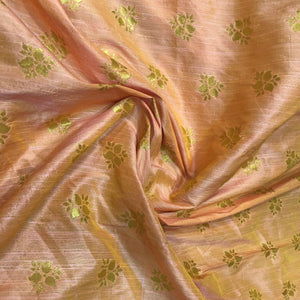 peach-and-gold-brocade-fabric-online