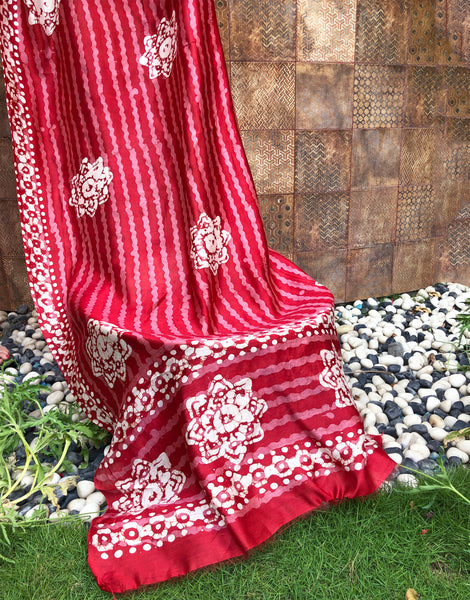 luxurious silk red dupatta