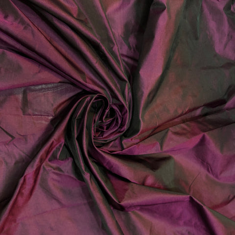 Wine Red Chennai Silk Fabric With Pink Thread Work