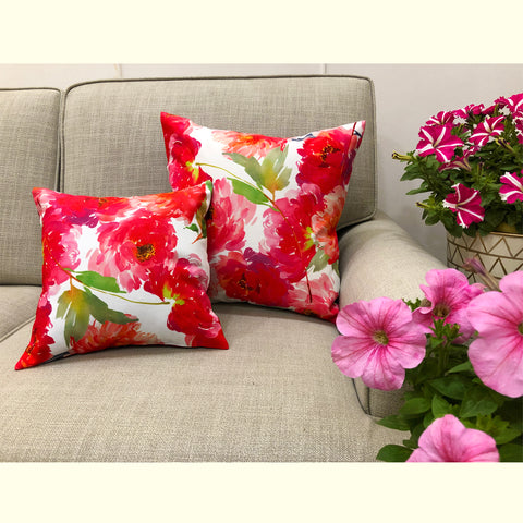 pink and white floral cushions online