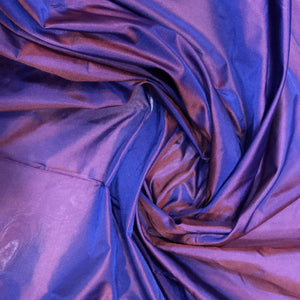 Perwinkle Purple Chennai Silk Fabric With Blue Sheen