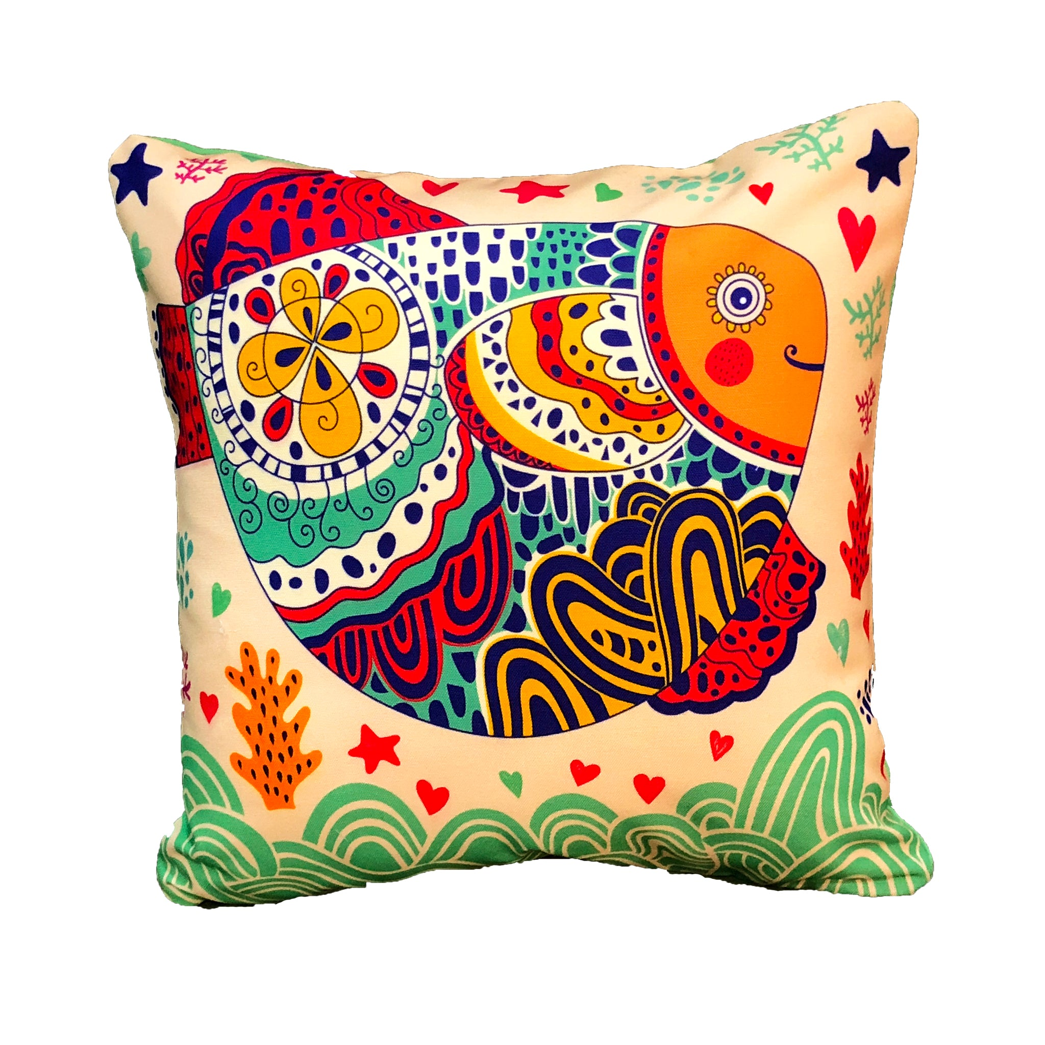 cute-cushion-cover-for-bed-in-fish-print