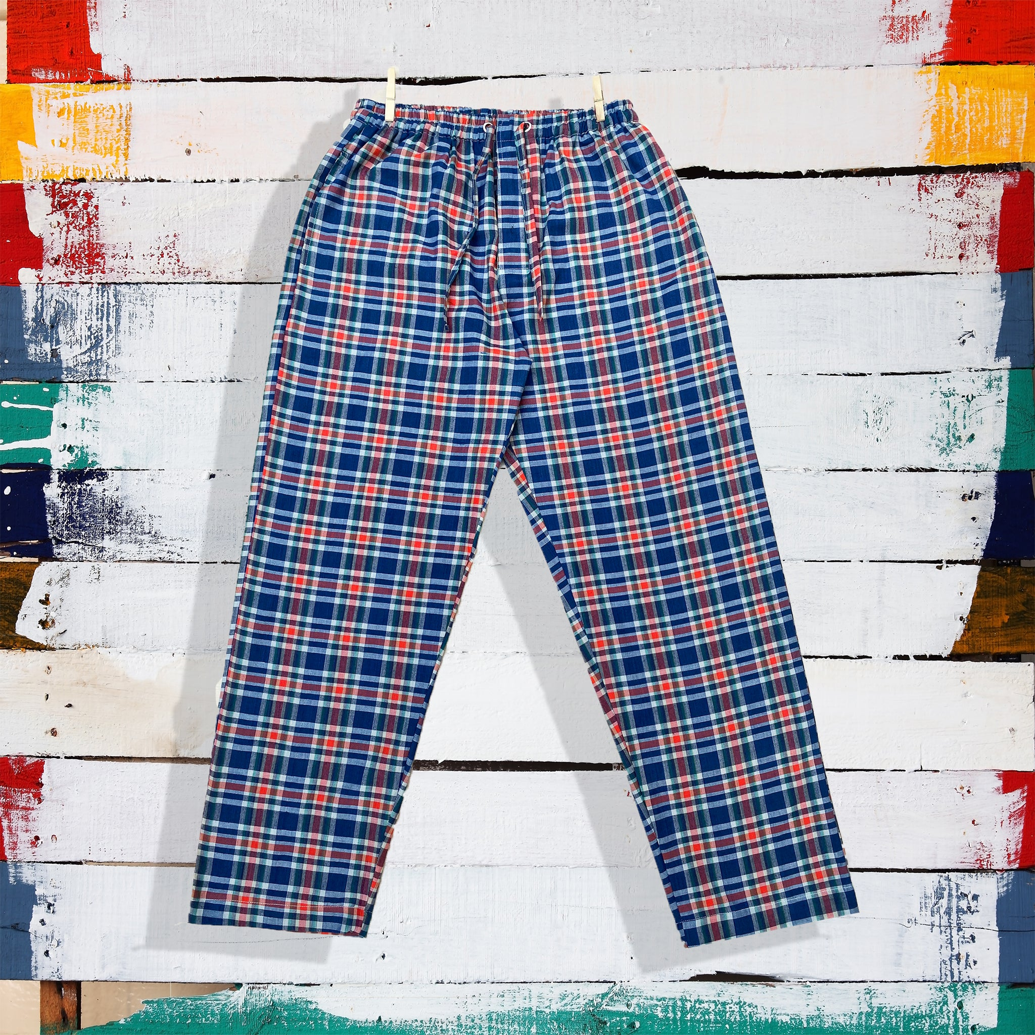 men's-cotton-pajamas-in-check-print-online-india