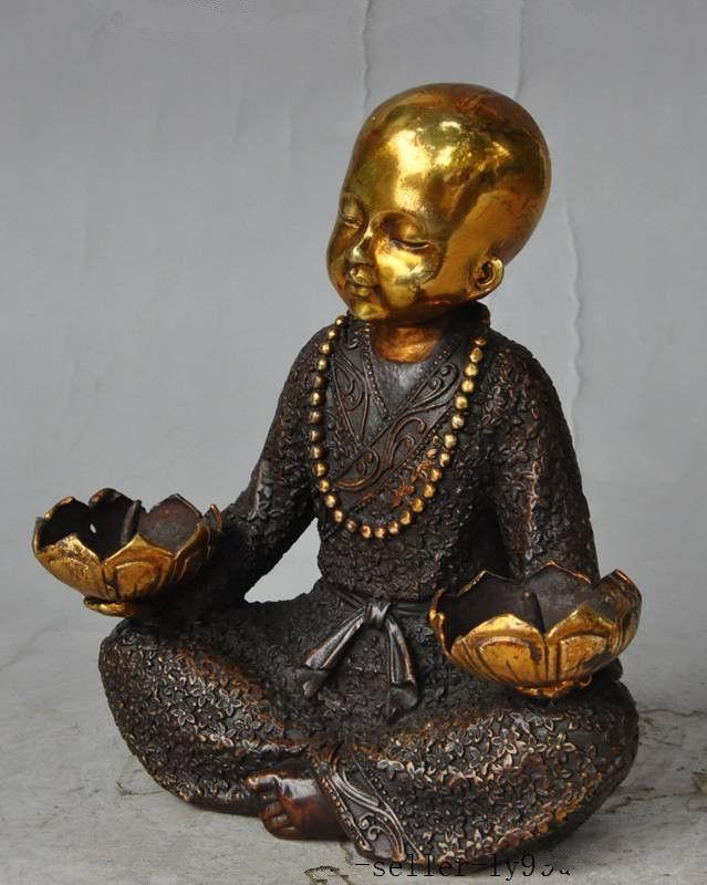 Delightful Monk Lotus Candlestick Holder