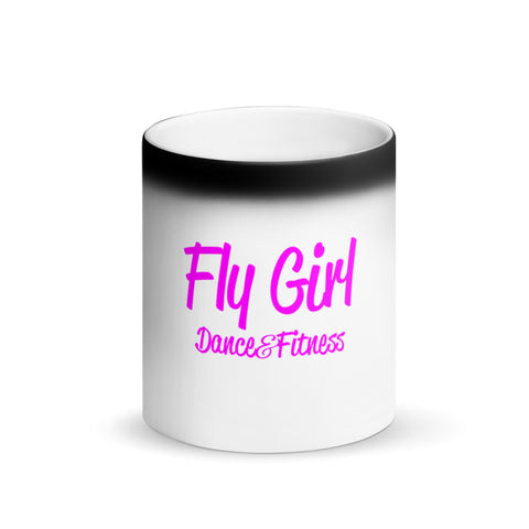 Fly Girl Matte Black Magic Mug