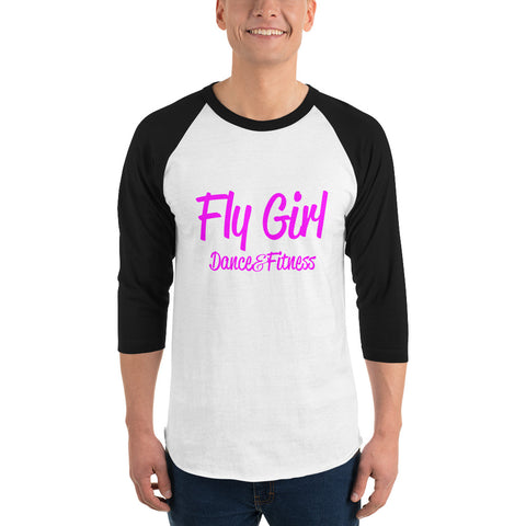 Fly Girl 3/4 sleeve raglan shirt