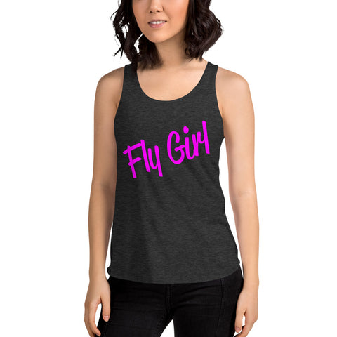 Fly Girl Women's Tri-Blend Racerback Tank