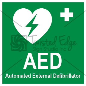 Safety Sign AED Small