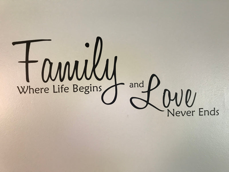 Family Where Life Begins and Love Never Ends Front 1