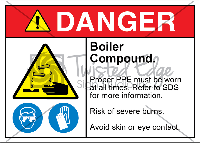 Safety Sign Danger Boiler Compound