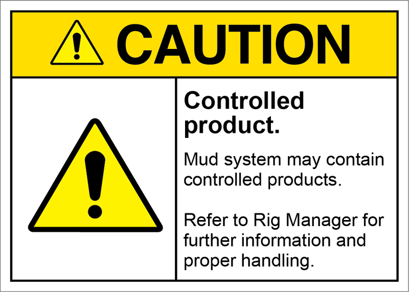 Safety Sign Caution Controlled Product