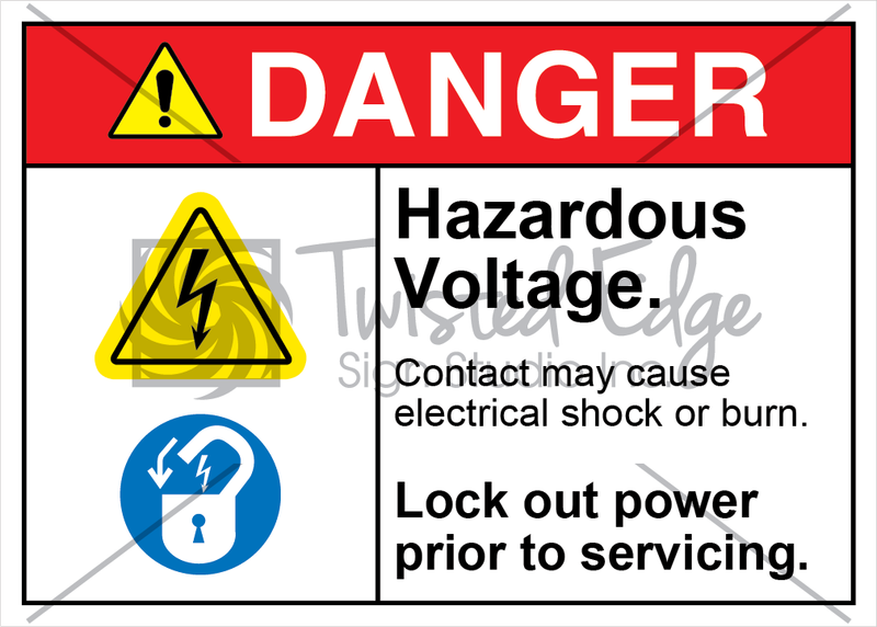 Safety Sign Danger Hazardous Voltage Lock Out Power