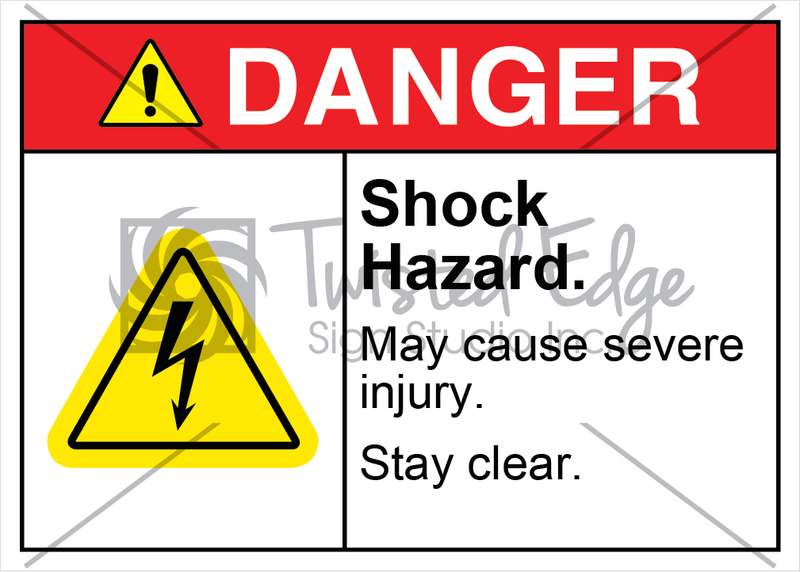Safety Sign Danger Shock Hazard Stay Clear