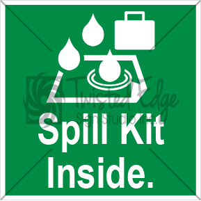 Safety Sign Spill Kit Inside Small