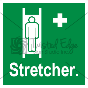 Safety Sign Stretcher Small
