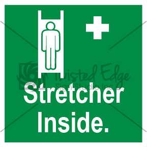 Safety Sign Stretcher Inside Small