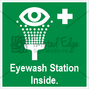 Safety Sign Eyewash Station Inside Small