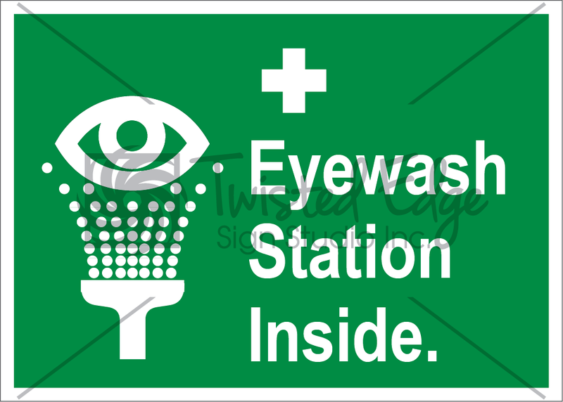 Safety Sign Eyewash Station Inside