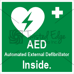 Safety Sign AED Inside Small