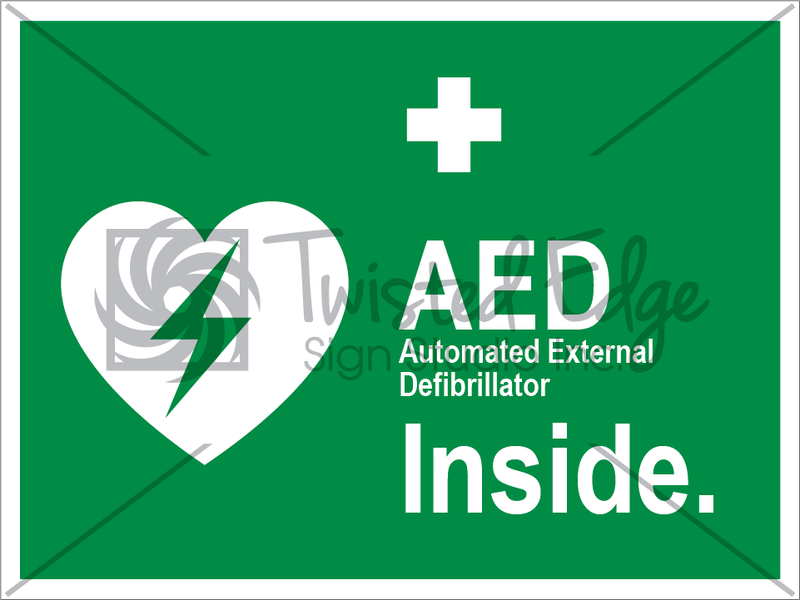 Safety Sign AED Inside